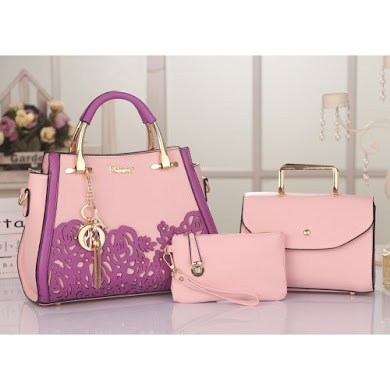 DIOR DESIGNER BAG (3 IN 1 SET) - Pink