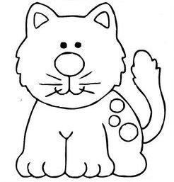 Dibujos infantiles dibujo infantil gato - Fotos de animales infantiles ...