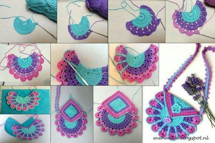 El crochet tejido a mano bolsos y carteras en crochet - Como hacer bolsos tejidos ...
