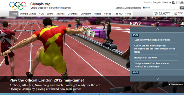 olympic+dot+org+official+site Watch London Olympic Games events live streaming sites Youtube