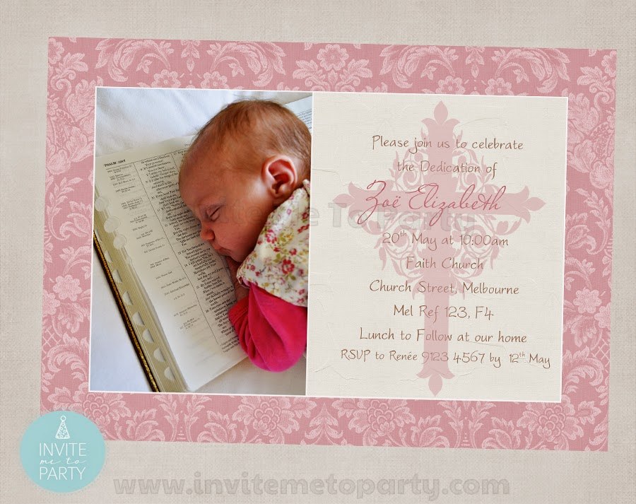 Invite Me To Party: Dedication Party / Christening Party / Baptism Party