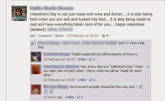 Valentine's Day FB Message