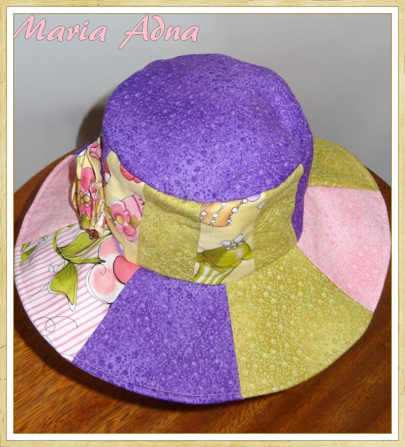 Patchwork, chapéu, Publicado revista, Maria Adna
