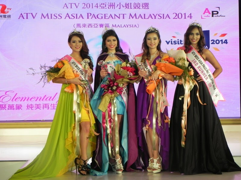 THE MISS ASIA MALAYSIA PAGEANT 2014 TOP 5 WINNERS.