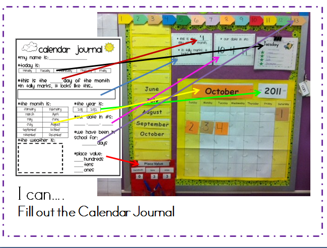 Daily Calendar Journal Kindergarten : Supporting independence in math stations mrs wills