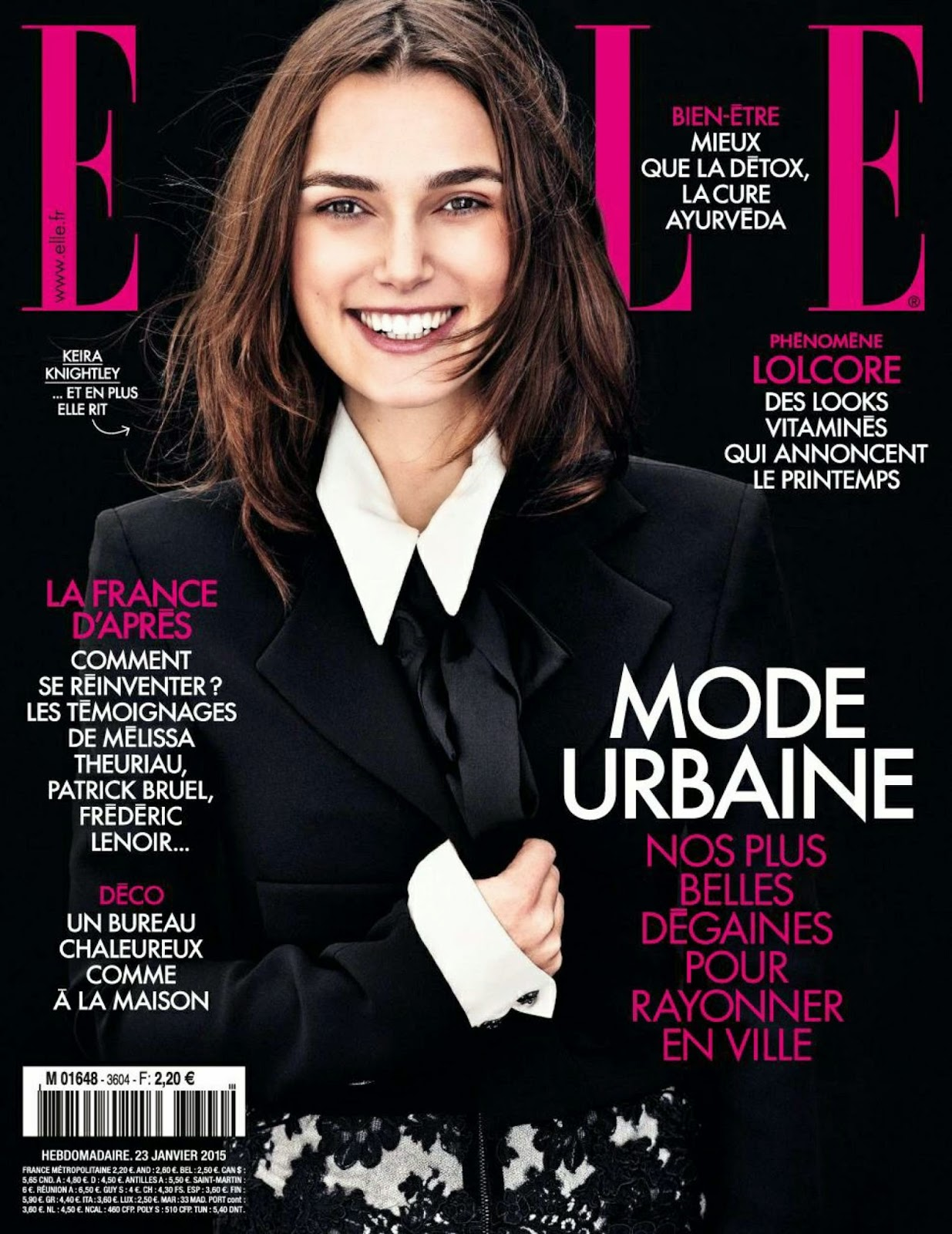 Actress: Keira Knightley for Elle, France