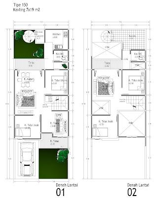Desain Rumah Minimalis Type 36 72, 45, 60 120