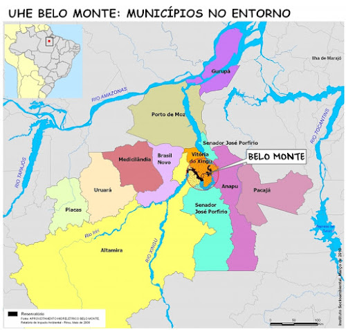 Mapa Usina Belo Monte