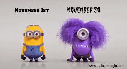 NaNoWriMo Yellow and Purple Minions