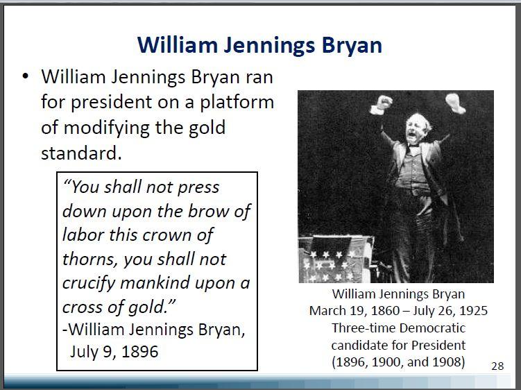 bryans cross of gold speech