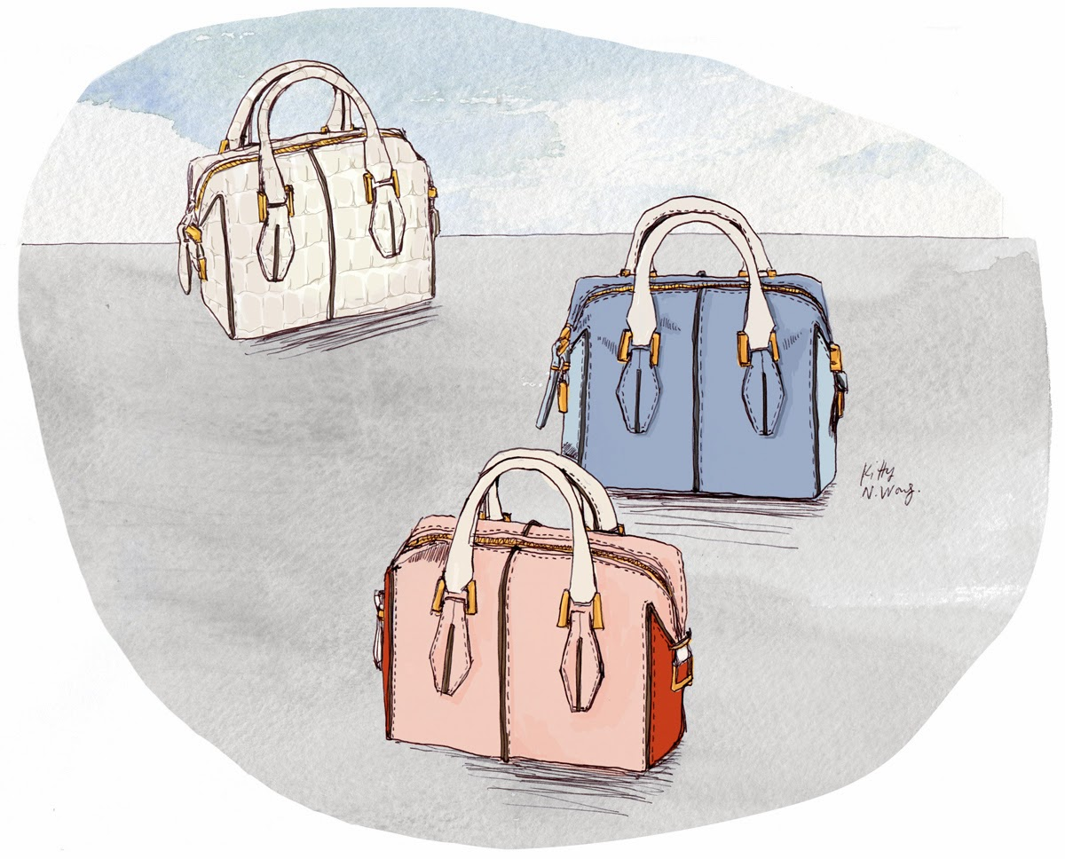 Kitty N. Wong / Tod's D-Cube Micro Bowler Fashion Illustration #bags