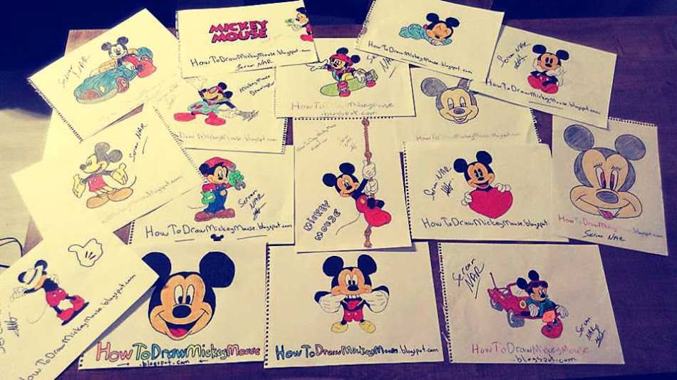 Easy Mickey Mouse Drawings and Sketches