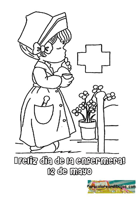 Dia de enfermera para colorear | Para colorear dibujos y dibujos