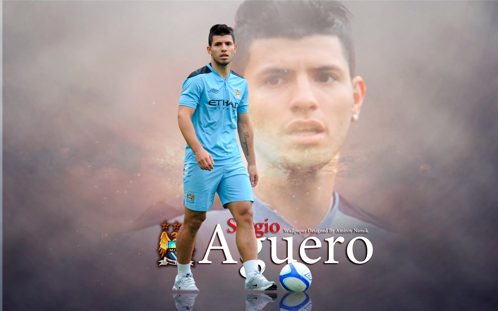 Sergio Aguero Best Player Of Man City 2012 Wallpaper