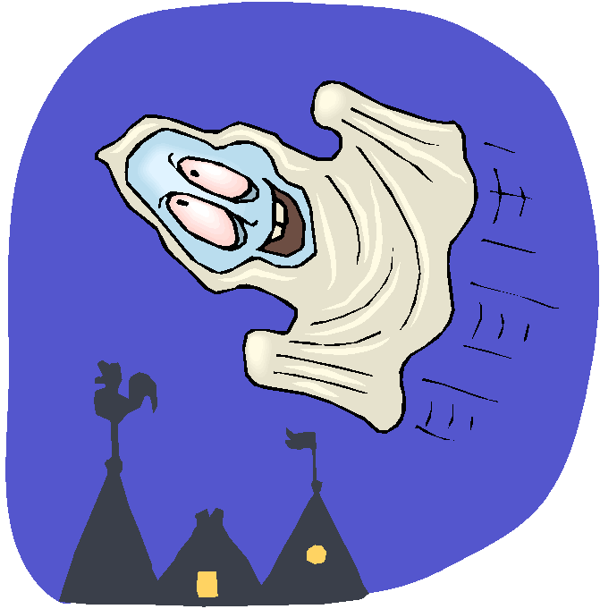 Funny Ghost Flying Free Clipart