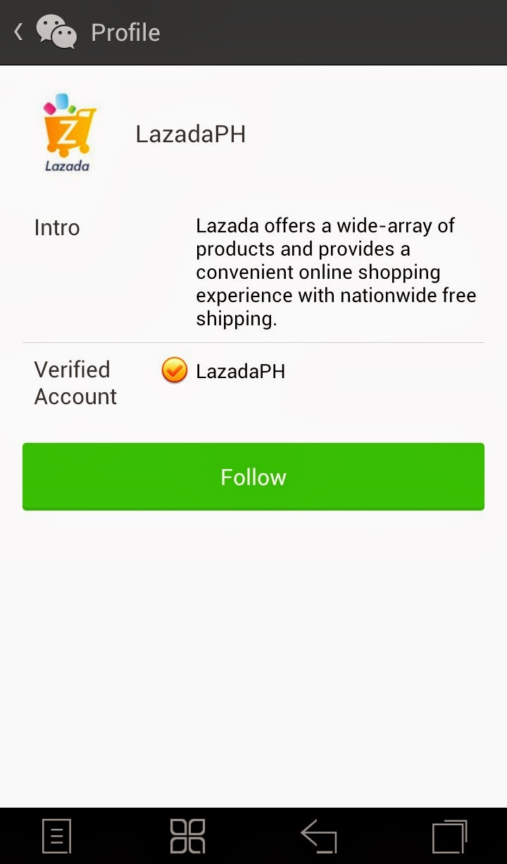 Follow LazadaPH Official Account