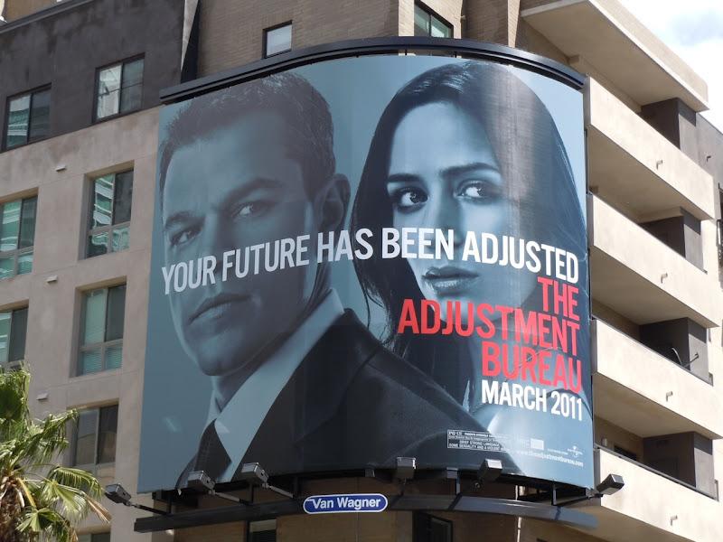 The Adjustment Bureau movie billboard