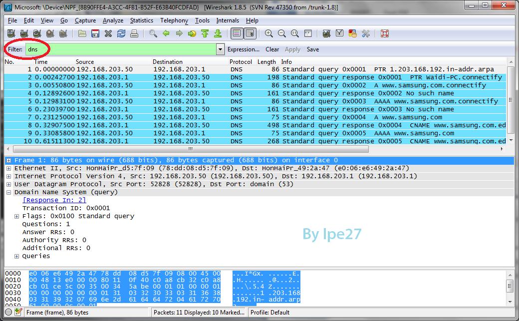 Technology and art analisis paket protokol http dns menggunakan wireshark - Wireshark filter destination port ...