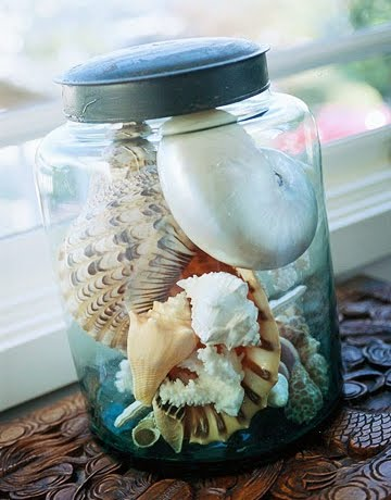 seaglass jar