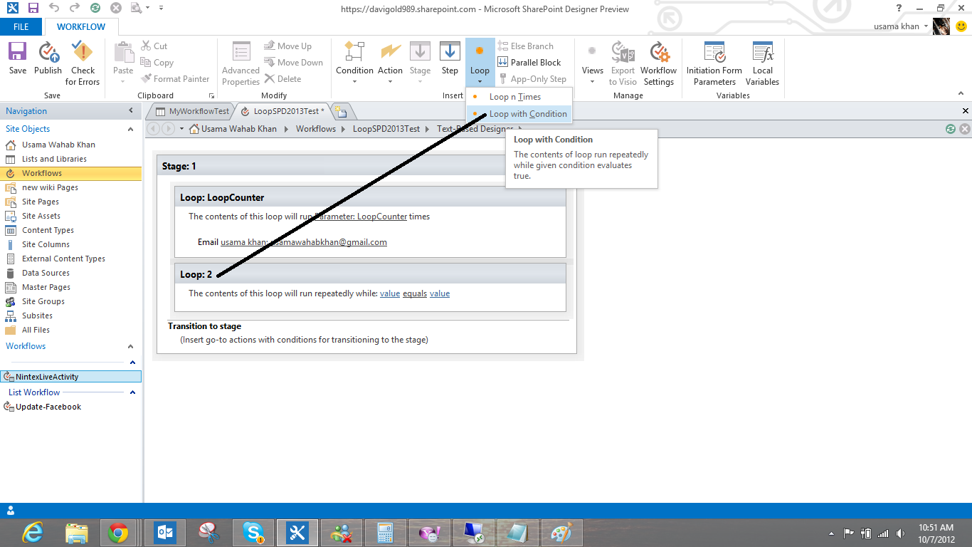 how to create a workflow in sharepoint without designer