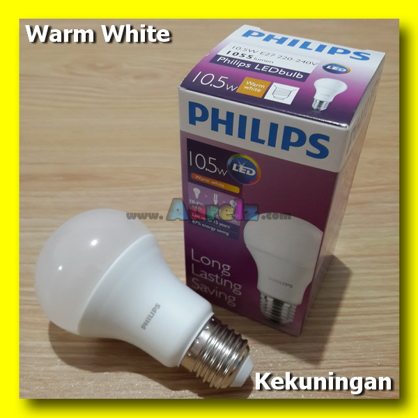 lampu led philips 10.5 watt warm white