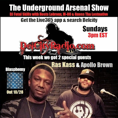 http://www.mixcloud.com/DelCityRadio/the-underground-arsenal-show-with-special-guests-ras-kass-apollo-brown/