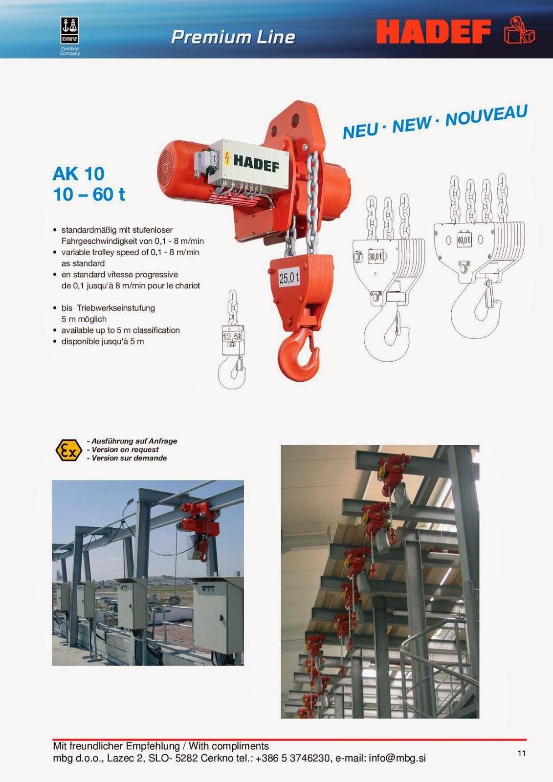 Elektro-Kettenzug / Electric Chain Hoist / Palan Electrique à chaîne - 11