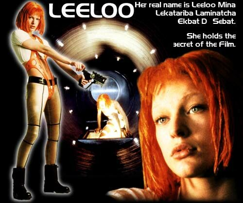 """Leeloo's """"The Fifth Element"""" Repository: Leeloo's Name"""