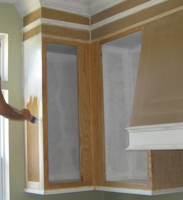 diy - how to paint builder's grade kitchen cabinets