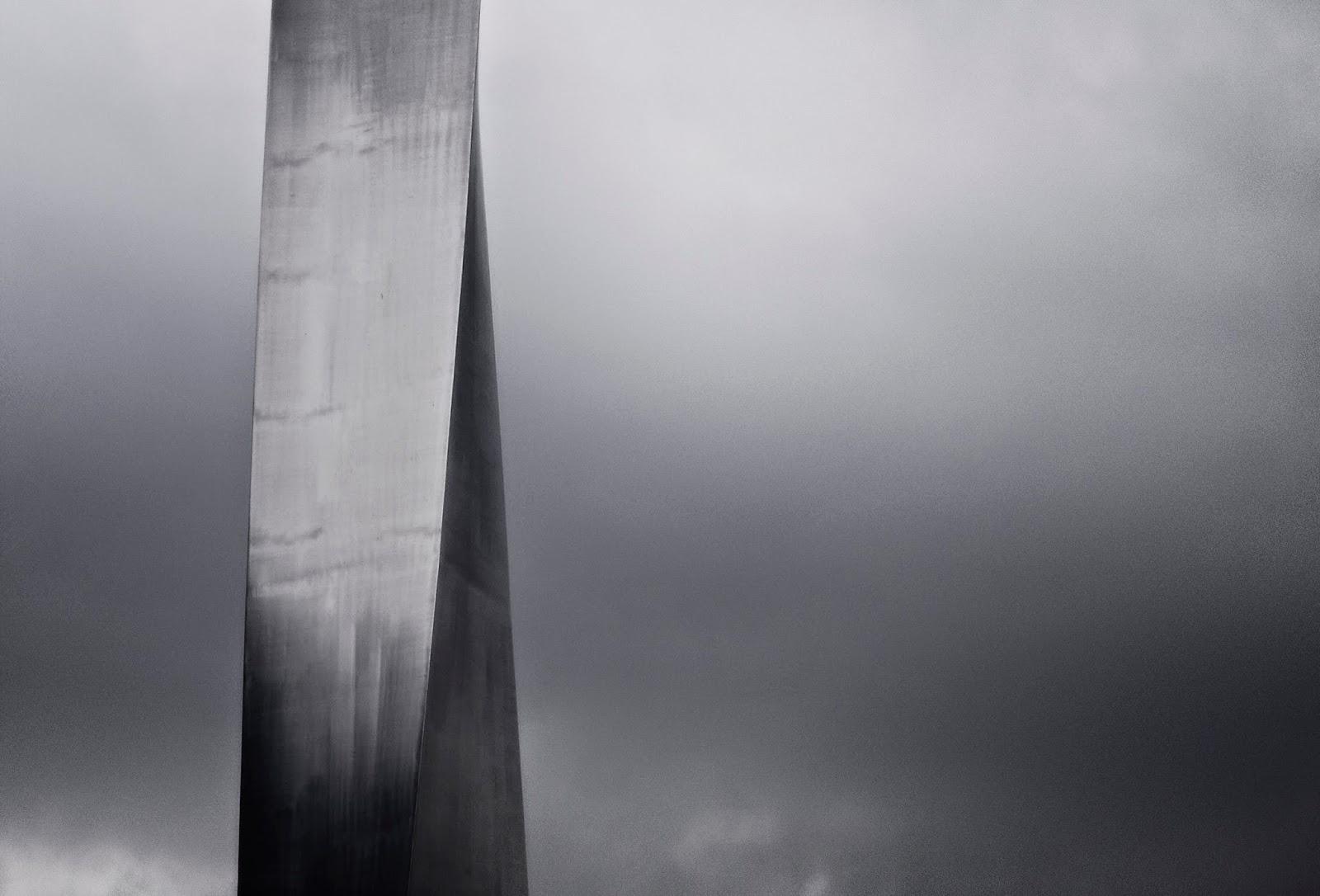 Metal Sculpture, Cloudy Sky