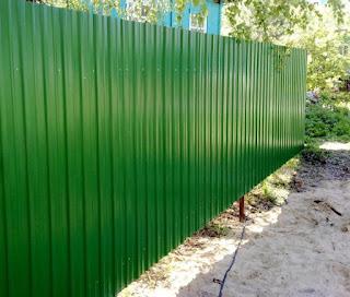 Забор из профлиста. Фото 23