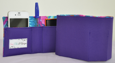 handbag organizer, purple, roll-up style