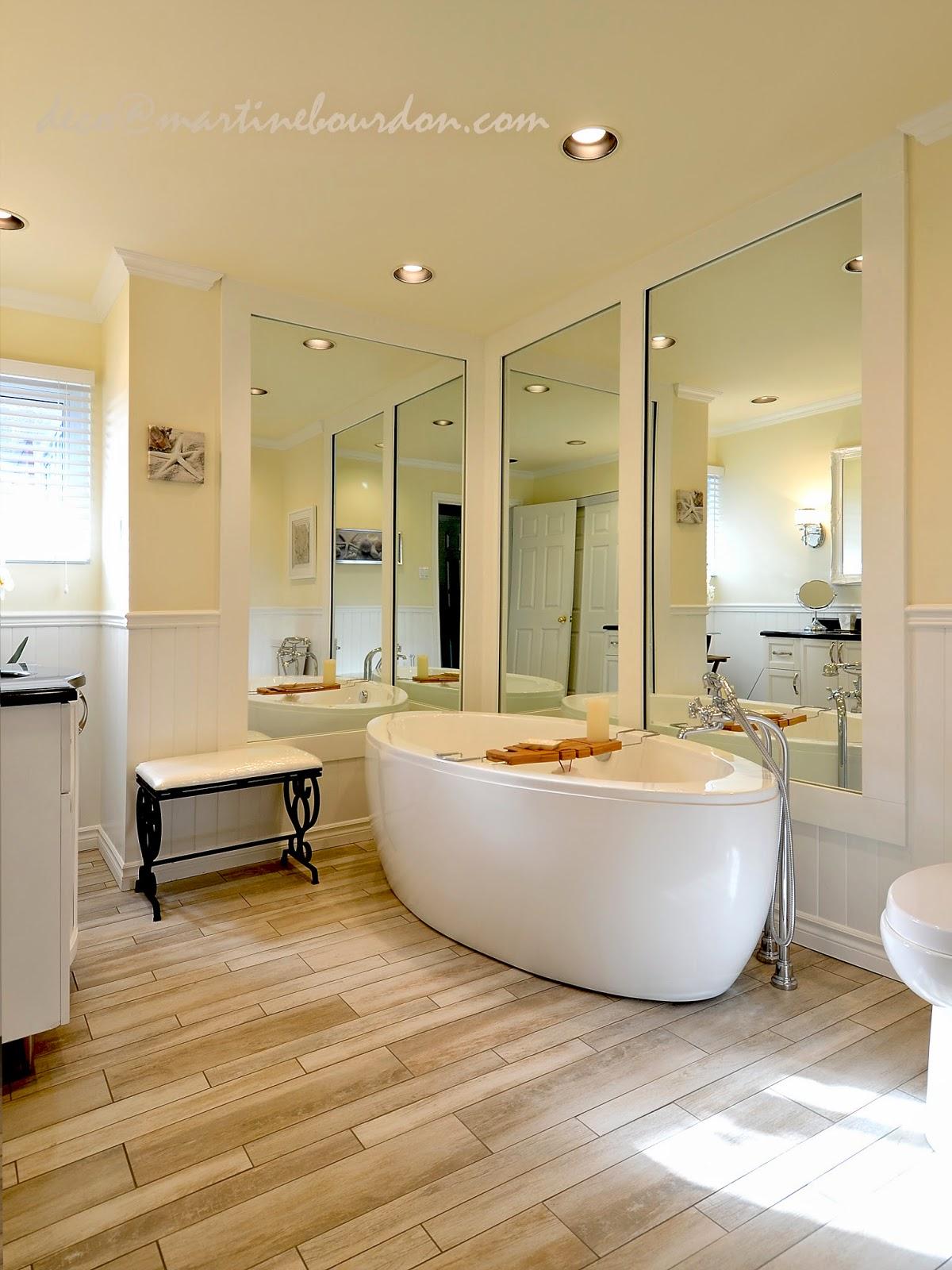 L 39 espace d co avant apr s grandeur et luminosit pour la salle de bain - Etabli salle de bain ...