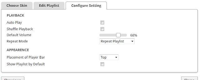 scm player configuration settings