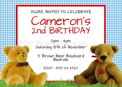 Mother duck said lets party teddy bear birthday party teddy bear picnic party invitation filmwisefo