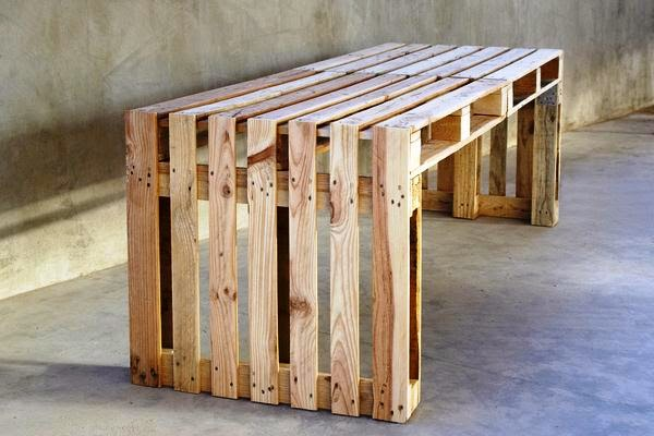 euro pallet furniture diy you just need euro palletsscrew them together and then start brushingnow you can paint the construction or let it in 99 pallet constructions furnitures outdoor