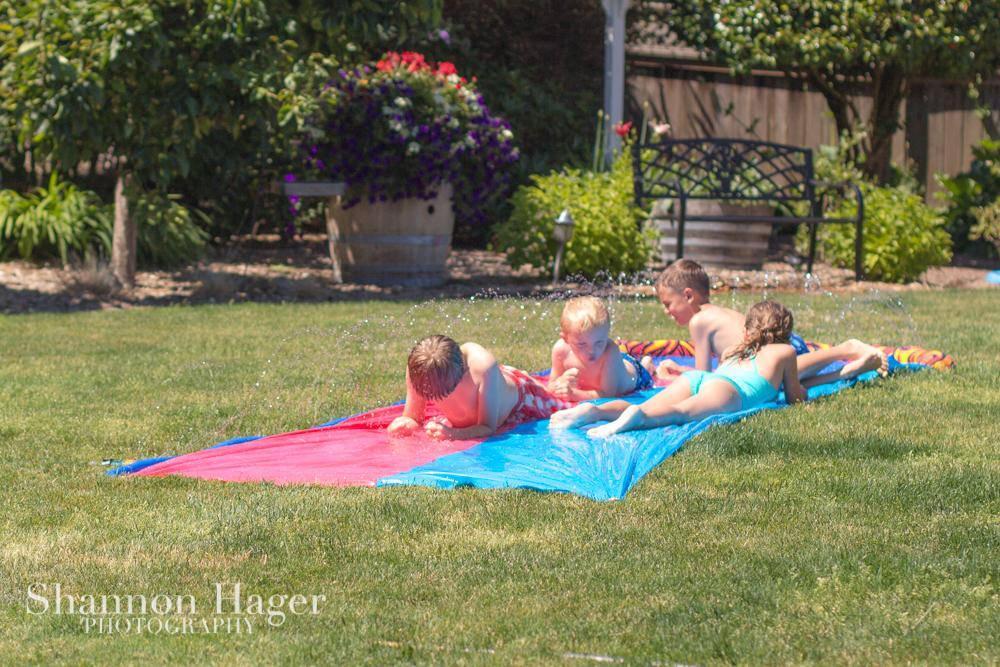 enjoying life with 4 kids portland june 2013 backyard