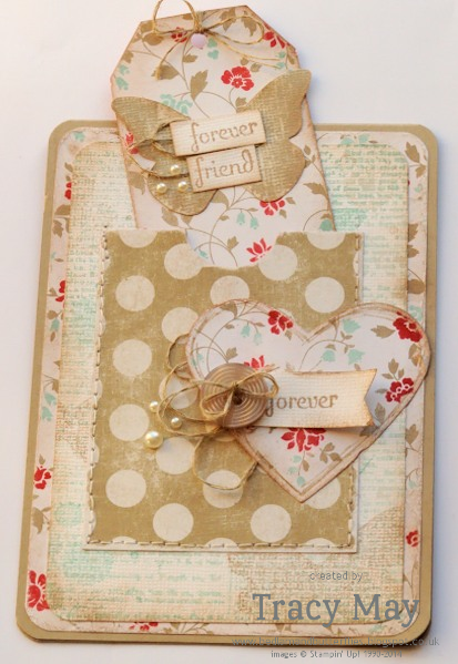 stampin up uk independent demonstrator Tracy May fresh prints shabby chic card making ideas