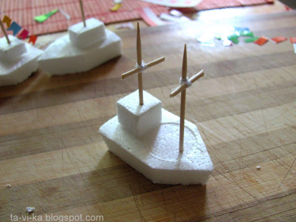 Как сделать кораблик своими руками из пенопласта