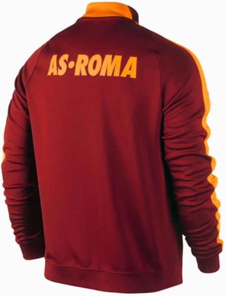 Jual Jaket Bola Grade ORI AS Roma Red Official 2014