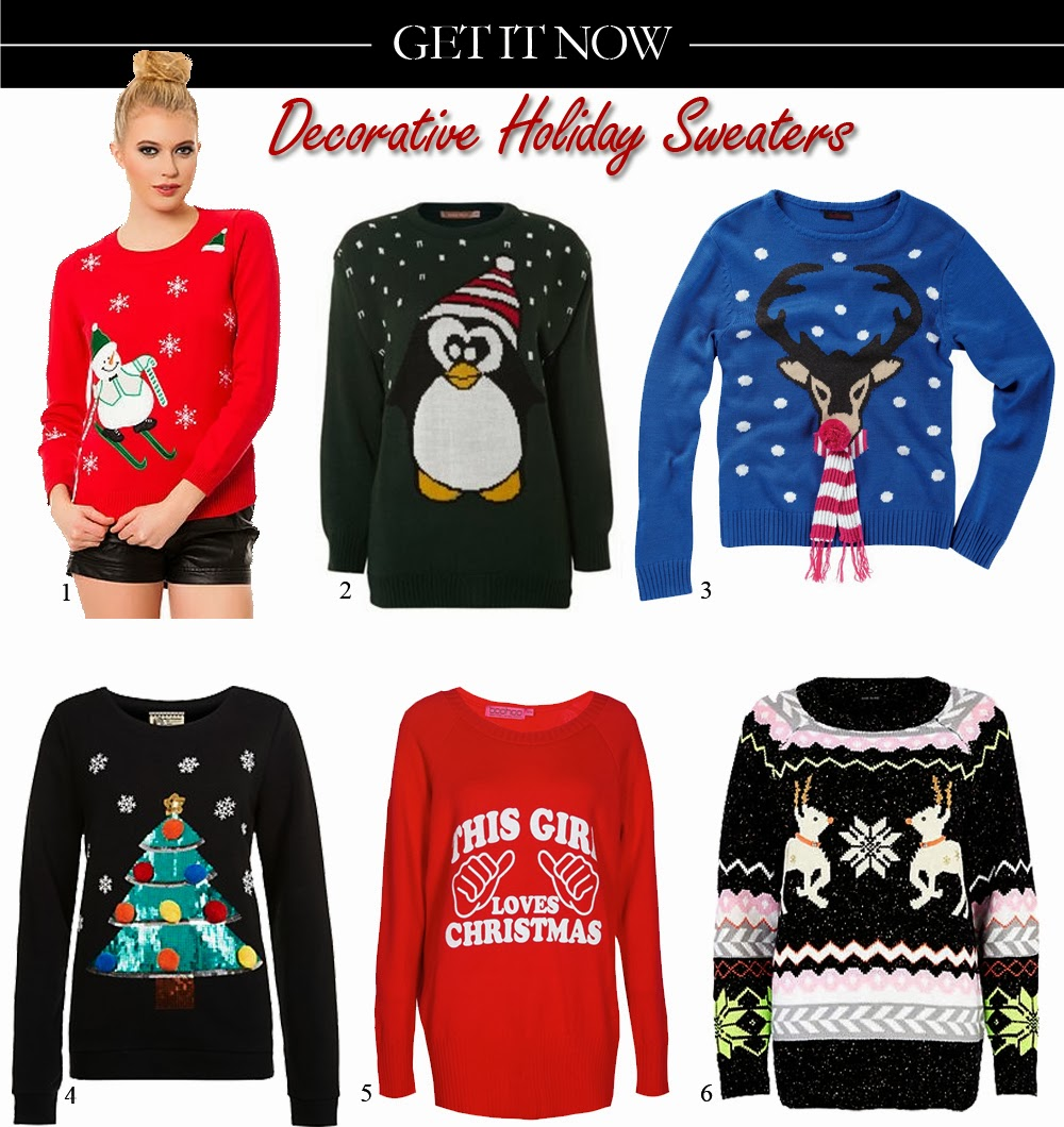 Get It Now: Decorative Holiday Sweaters