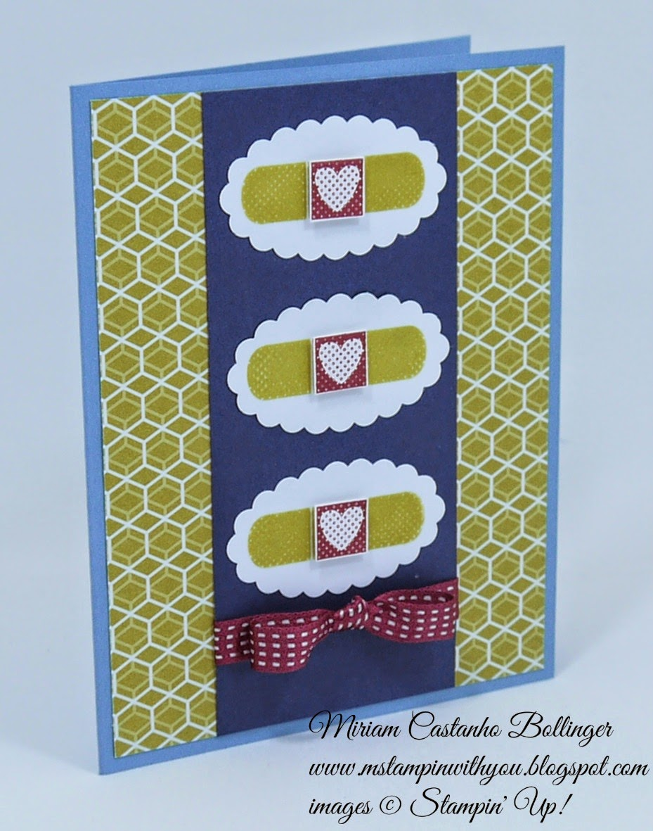 Miriam Castanho Bollinger, mstampinwithyou, stampin up, demonstrator, get well, fusion, scallop oval punch, patterned occasions stamp set, su