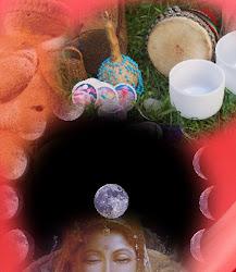 En nuestra Tienda Roja, meditamos en la Diosa acompañadas por los cuencos de cuarzo y los tambores