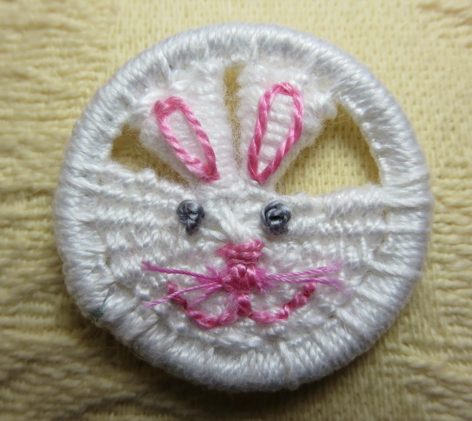 bunny rabbit easter dorset button