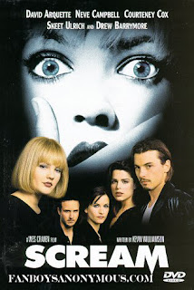 drew barrymore neve campbell roger jackson courteney cox david arquette horror scary ghostface