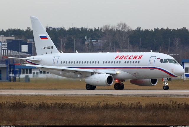 Самолёты Sukhoi Superjet 100 поставлены для Специального Лётного Отряда «Россия»
