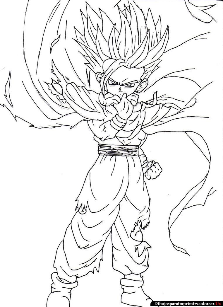 Dibujos Colorear Dragon Ball Z Para Imprimir ~ Ideas Creativas Sobre ...