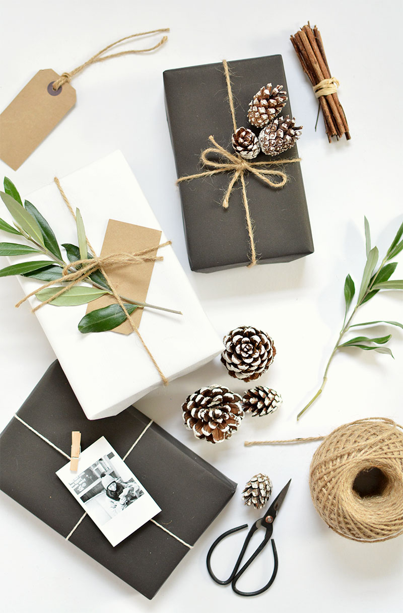 Diy 5 gift wrap ideas for christmas burkatron for How to wrap presents with wrapping paper