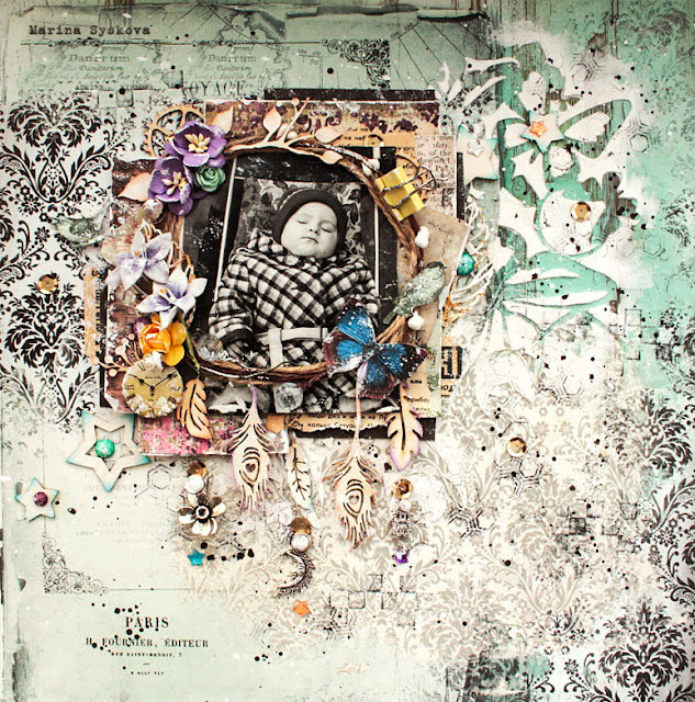 @marinasyskova #scrapbooking #layout  #mixedmedia #lo #scrap