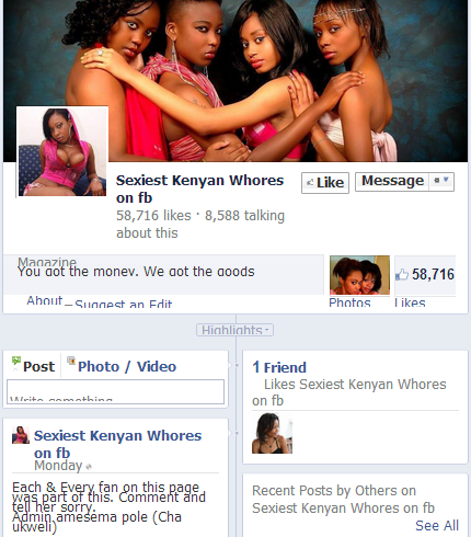 Kenyan University's divas for rich men are back with different fb page